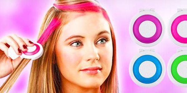 2ks balení oblíbených Hot Huez: omyvatelné vlasové barvy s rychlým aplikátorem.