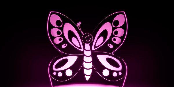 Dětské LED noční světýlko Aloka Butterfly - doprava zdarma!