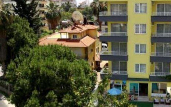 Turecko, oblast Alanya, doprava letecky, snídaně, ubytování v 3* hotelu na 11 dní