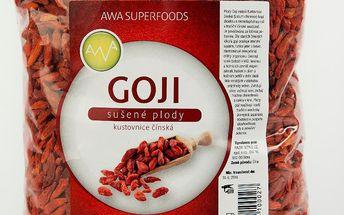 Goji Kustovnice čínská sušené plody 1 kg AWA superfoods