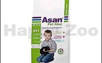 Podestýlka pro ušlechtilé potkany či zakrslé králíky ASAN Pet Aloe 45l