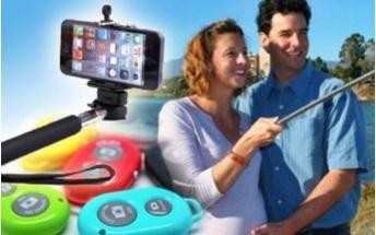 Praktický set na focení selfie - teleskopický držák a bluetooth ovladač. Poštovné v ceně!
