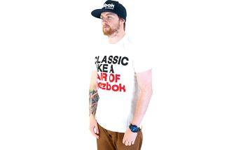 Triko Reebok Classic Slogan White bílá