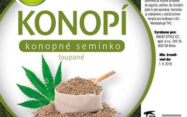 Konopné semínko loupané 500g AWA superfoods