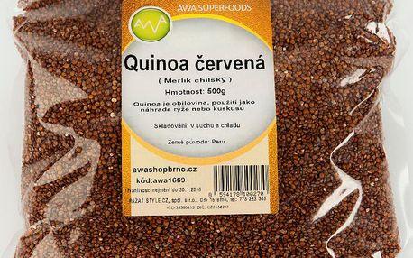 Quinoa červená 500g AWA superfoods