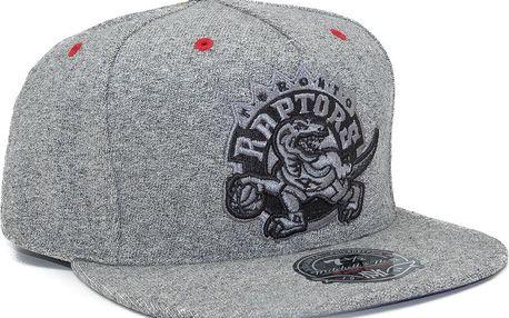 Kšiltovka Mitchell & Ness Toronto Raptors Broad ST Grey Fitted šedá