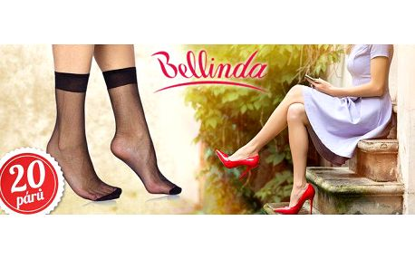 20 párů dámských silonkových ponožek Bellinda
