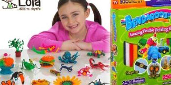 Dokonalá zábava pro děti - 500 ks voskovaných provázků Bendaroos. MODELUJTE a LEPTE bez nepořádku.