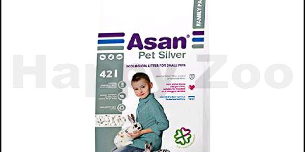 Podestýlka pro morčata a zakrslé králíky ASAN Pet Silver 42l