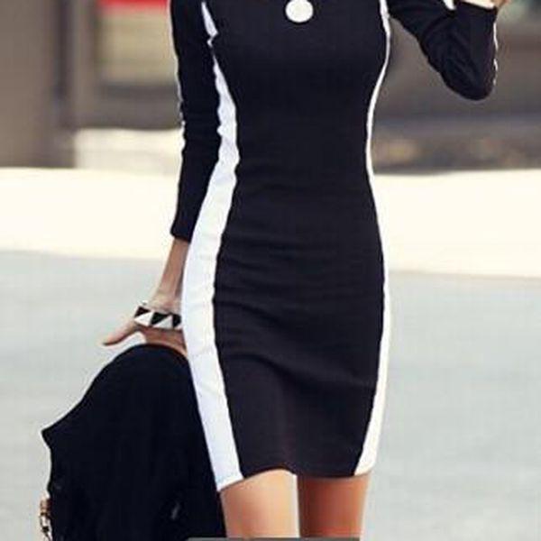 Černobílé podzimní šaty Stripes!