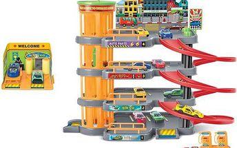 KidsHome Garáž 3 patra s autoservisem a 4 autíčka (BF822804)
