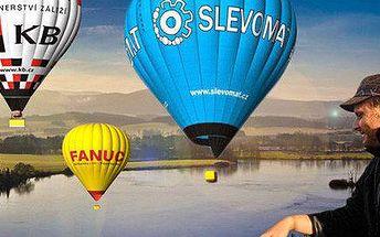 Výlet do nebe v balónu pro 1 či 2 osoby