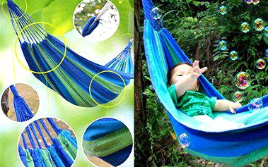 Relaxujte v ultra lehké houpací síti!