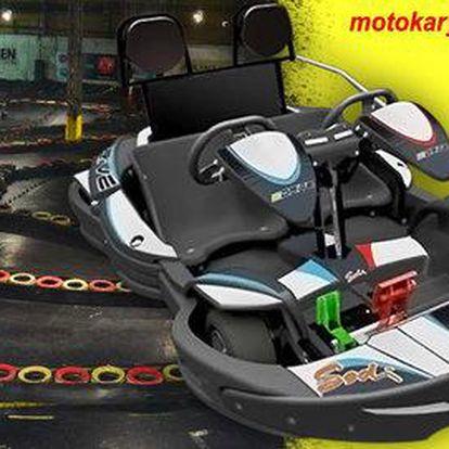 Adrenalinové jízdy na motokárách