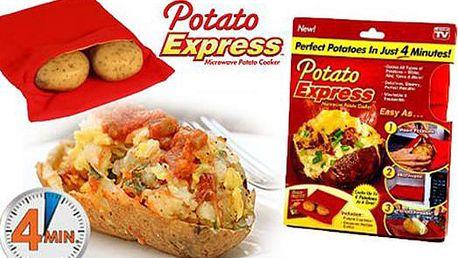 Vaření brambor snadno a rychle! Sáček Potato Express do mikrovlnky