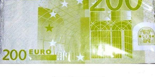 Papírové ubrousky 200 Euro - utřete si ruce penězi!