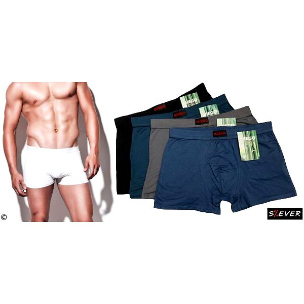 Balení 4 ks pánských boxerek z bambusového vlákna, pohodlné, termoregulační a antibakteriální.