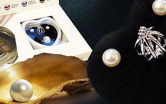 Set šperků s perlou přání: prstýnek, náušnice, náhrdelník.