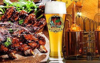 Piva, žebra i prohlídka pivovaru Victor na Žižkově