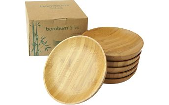 Sada 6 bambusových tácků Silva