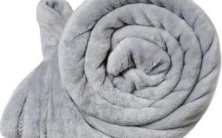 Dreaming Peacock deka mikroflanel - šedá 150x200