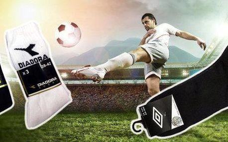 9 párů sportovních ponožek Umbro či Diadora