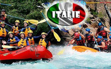 Adrenalinový rafting v Itálii vedený zkušeným instruktorem raftingu pro jednu osobu s dopravou a ubytováním. Na tento zážitek dlouho nezapomenete!!!