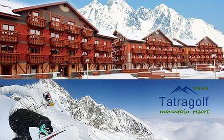 Dovolená v nejlevnějších tatranských luxusních apartmánech Tatragolf****