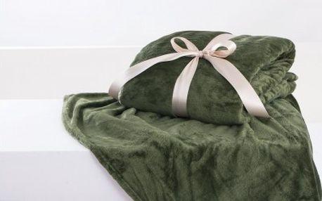 XPOSE ® Deka mikroflanel olivová 200x230 cm