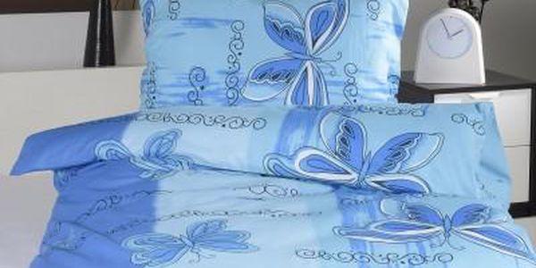 Dreaming Peacock povlečení na dvě lůžka IVETA - modrá 140x200, 70x90