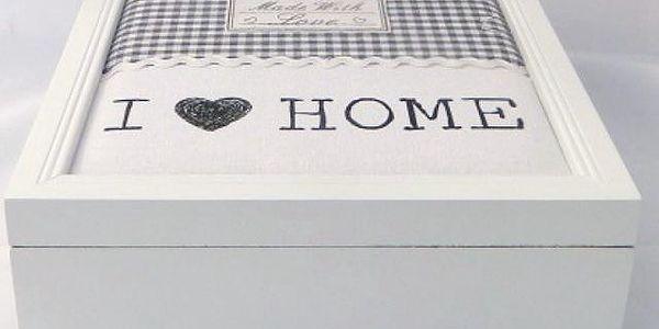 Dřevěná krabička I love home!