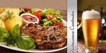 PRAHA - menu pro DVA! 2x PIVO + 2x 200g STEAK s PŘÍLOHOU a OMÁČKOU DLE VÝBĚRU v Restauraci Čertovka!