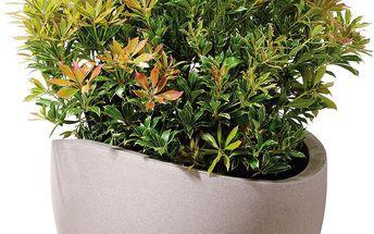 Venkovní květináč Globe 40 cm, hnědý