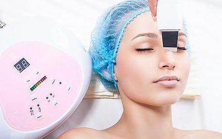 Ultrazvukové čištění pleti, liftingová vyhlazovací a relaxační masáž