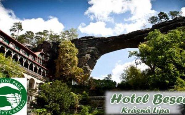 Letní ČeskoSaské Švýcarsko: Hotel Beseda** 4 dny s polopenzí pro 2 až do září