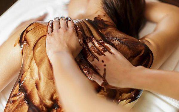30minutová čokoládová masáž zad a šíje v pražském salonu Libeň