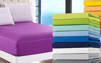 Prostěradlo Jersey Luxus na jednolůžko o rozměrech 200x90 cm v 25 barvách.