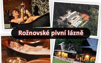 3 dny lázeňského pobytu pro DVA v Rožnovských pivních lázních s ozdravnými procedurami, poznávacím programem ve Skanzenu a ubytováním v ceně!