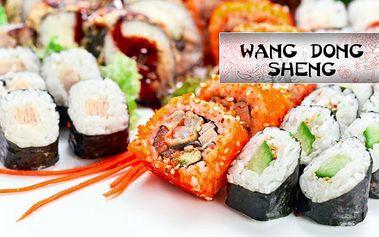 Jedinečná 60% sleva na VEŠKERÉ SUSHI a SUSHI SETY a 50% sleva na vybrané ALKOHOLICKÉ NÁPOJE v centru Prahy! Sushi sety d 88 Kč! Vychutnejte si asijské speciality v pasáži Černá růže v restauraci Wang Dong Sheng u stanice metra Můstek!!