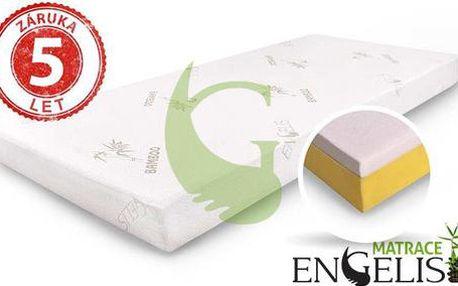 Ergonometrické matrace s paměťovou pěnou Engelis Bamboo 1+1 ZDARMA! Poštovné v ceně