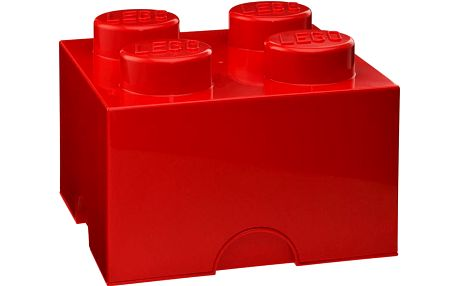 Úložná kostka LEGO, červená