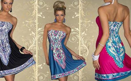 Letní dámské šaty s originálním vzorem