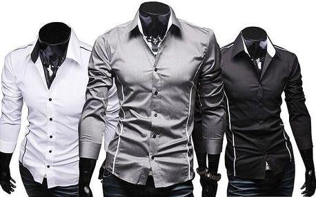 Stylová pánská slim-fit košile ve 3 barvách s poštovným v ceně