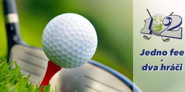 Balík 12 voucherů na golf fee pro 2 hráče za cenu 1