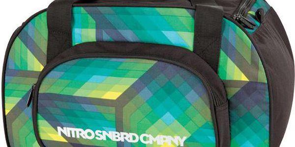 Menší sportovní taška Nitro Duffle Bag XS geo green