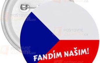 Placka Fandím našim! a poštovné ZDARMA! - 9999911258