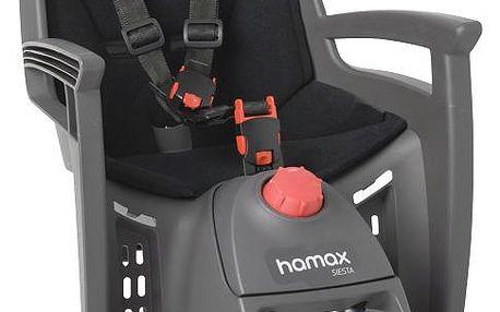 Dětská sedačka na kolo HAMAX Siesta šedá / černá