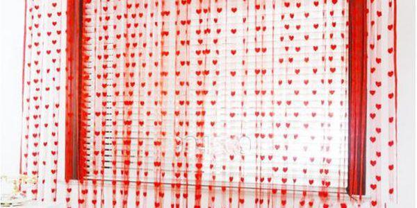 Záclona se srdíčky 100x200 cm!