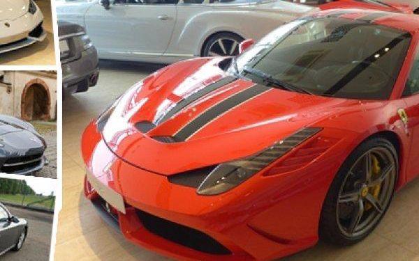 Ferrari, Lamborghini, Chevrolet nebo Porsche - rychlá jízda v jednom ze čtyř vozů + lahev vína.