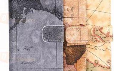 Kožené pouzdro se vzorem mapy pro Samsung Galaxy S6 Edge a poštovné ZDARMA! - 9999920831